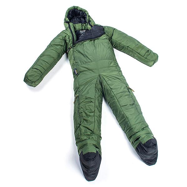 着る寝袋 セルクバッグ 緑 人型 動ける 歩ける 大人 キャンプ アウトドア 海外