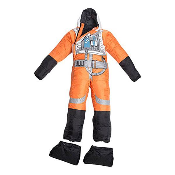 着る寝袋 セルクバッグ スターウォーズ 反乱軍 パイロット 制服 コスチューム 人型 動ける 歩ける 大人 子供 キャンプ アウトドア 海