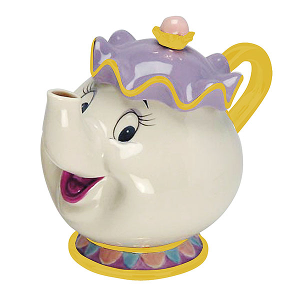 美女と野獣 ポット夫人 ミセスポット ティーポット セラミック 食器 ディズニー 公式 インテリア