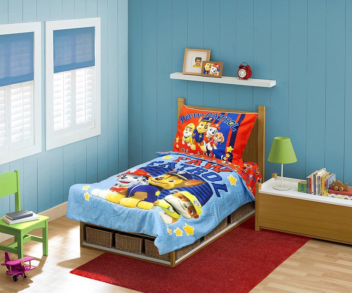 パウパトロール ベッドカバー セット 幼児向け 4点セット 寝具 インテリア グッズ