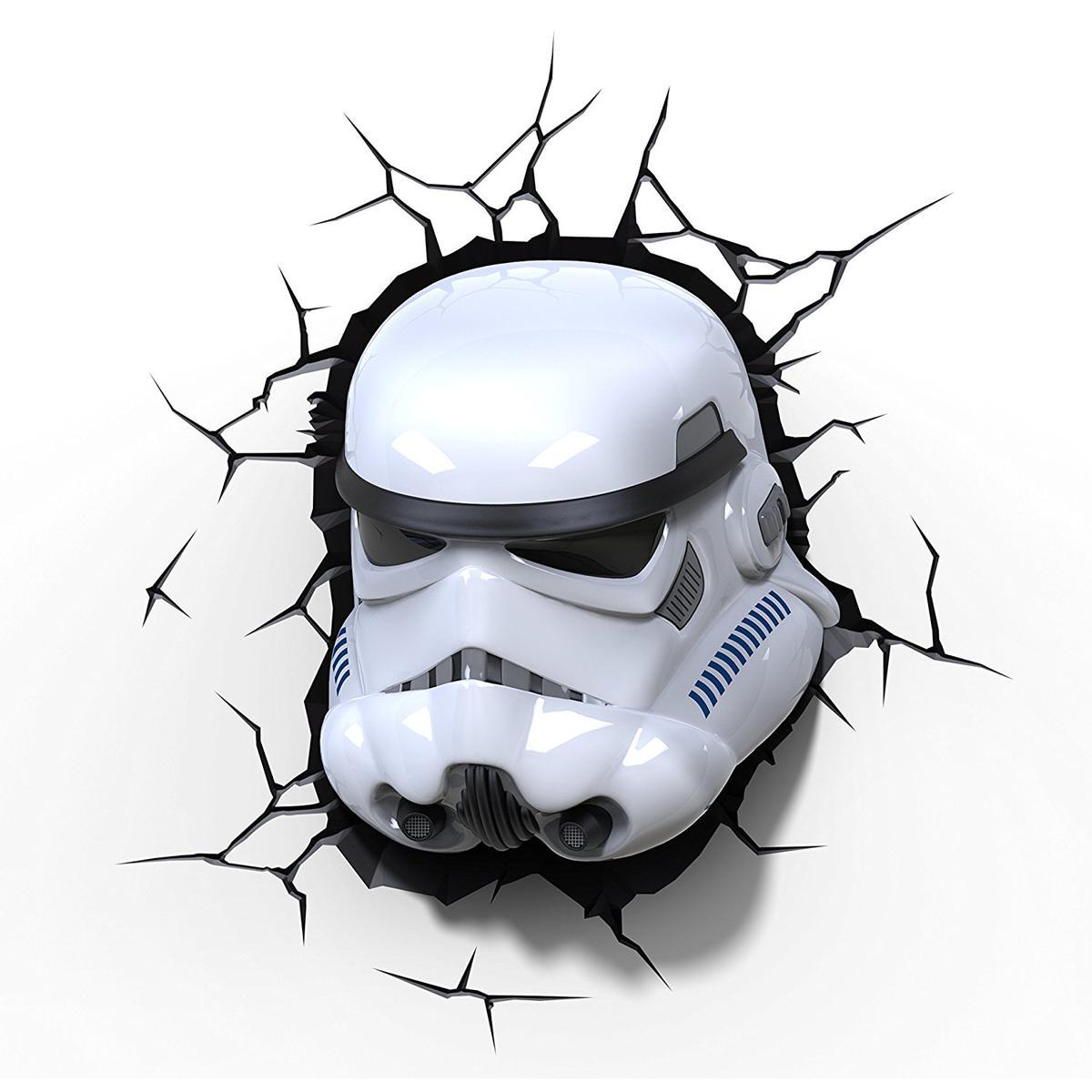 3D 立体 壁飾り ウォールデコ スターウォーズ ストームトルーパー ヘルメット インテリア キャラクター グッズ ランプ 照明