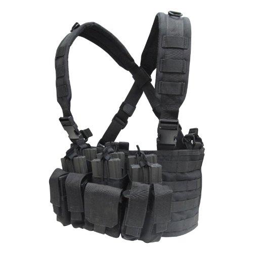 サバイバルゲーム サバゲー 装備 タクティカル チェスト 胸部 リグ ポーチ コンドル タクティカル リーコン チェストリグ ブラック 黒