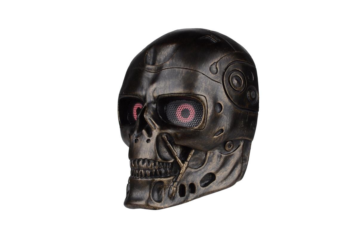 サバゲー フェイスガード フェイスマスク 大人用 骸骨 スカル ターミネーター キャラクター 装備 目立つ おもしろい 海外 グッズ