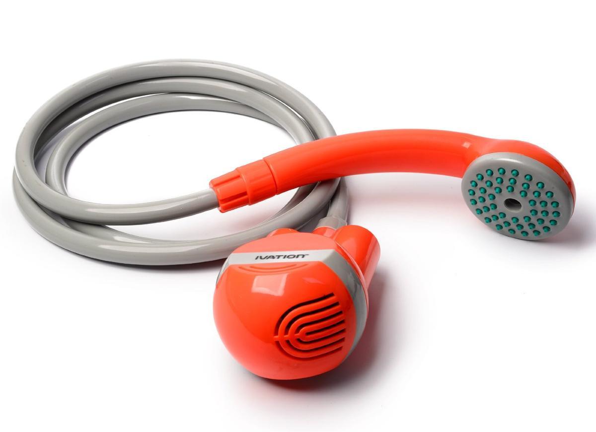 Ivation 携帯用シャワー ポータブルシャワー オレンジ 旅行 キャンプ 屋外 アウトドア ハイキング グッズ