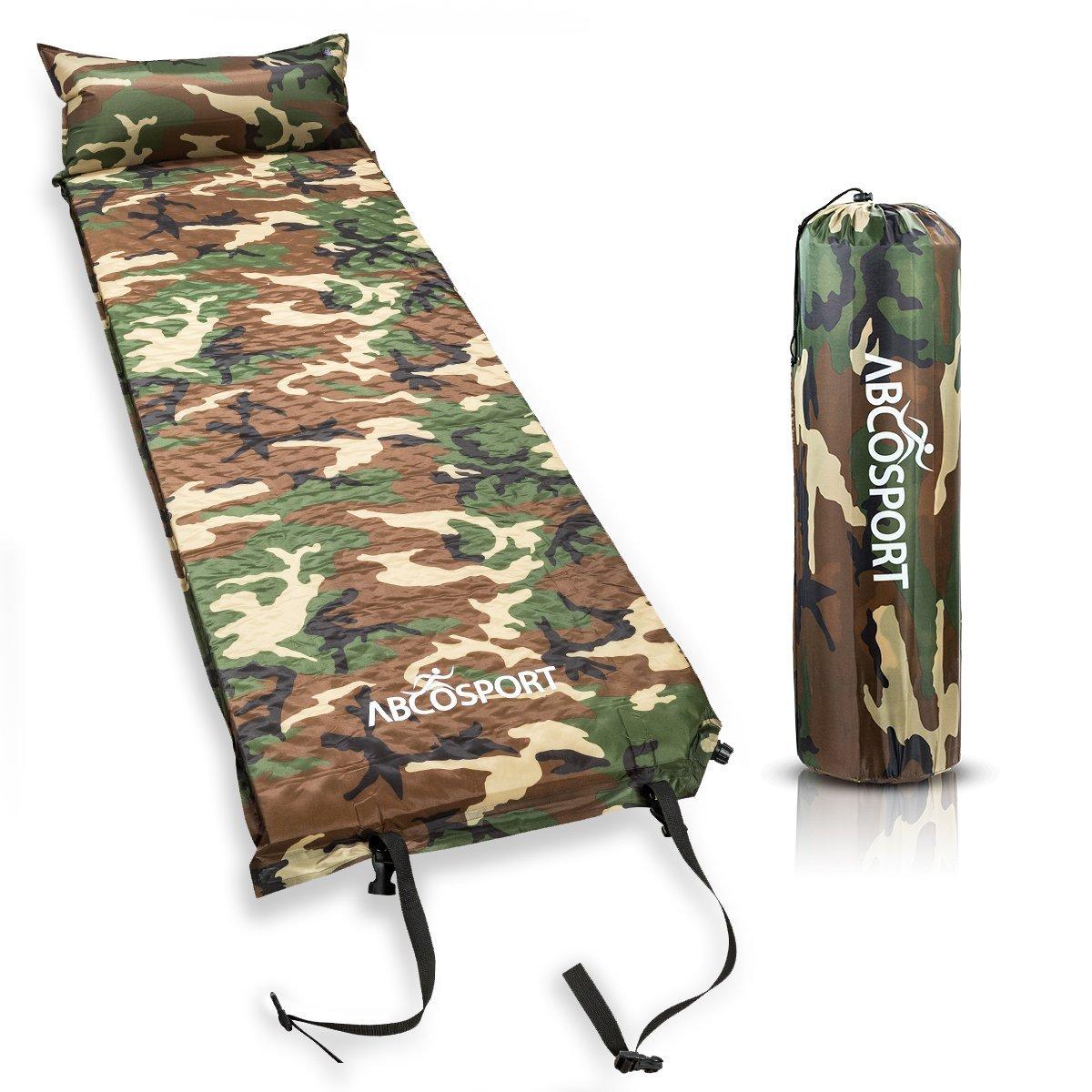 キャンプ ベッド 寝具 自動膨張 迷彩柄 屋外 アウトドア