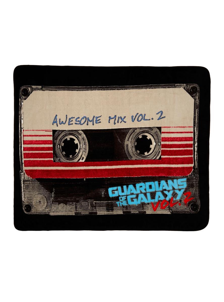 ガーディアンズ オブ ギャラクシー グッズ 毛布 ブランケット ひざ掛け カセットテープ マーベル