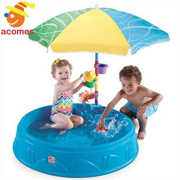 プール 子供 水遊び 家庭用 パラソル 付き 夏 水浴び 砂遊び 砂場 大型 遊具