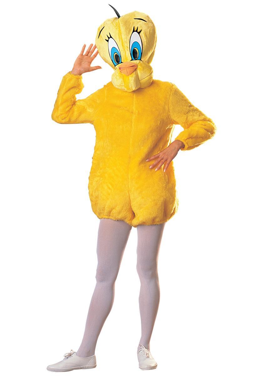 おもしろコスプレ トゥイーティー 大人用 コスチューム ゆるキャラ 海外 アニメ 動物 キャラクター ひよこ 着ぐるみ