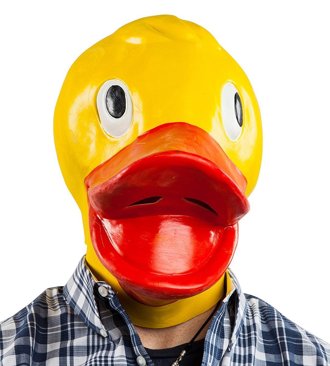 おもしろコスプレ マスク アヒル 動物 被り物 海外 コスプレ 仮装 グッズ
