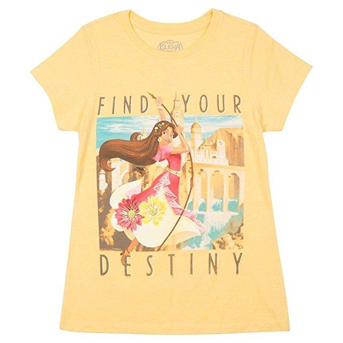 ディズニー Tシャツ 子供 アバローのプリンセス エレナ 黄色 Find Your Destiny ガールズ 女の子 アパレル ファッション