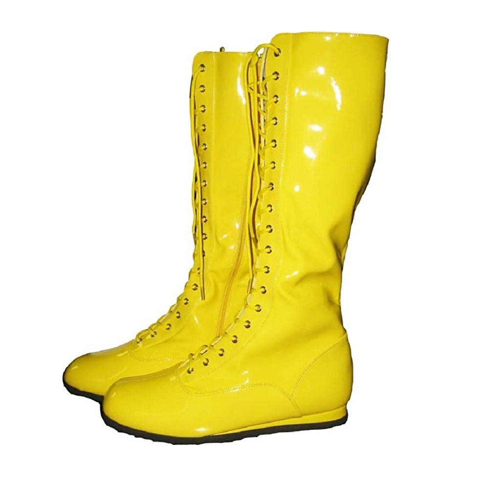 コスプレ 仮装用 レスリングシューズ 黄色 大人 プロレスラー 靴 海外 プロレス グッズ