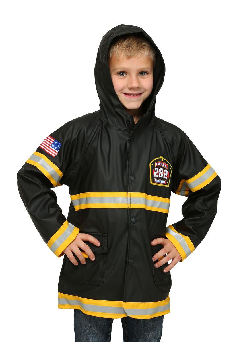 ハロウィン 消防士 レインコート 子供 キッズ 雨具 コスプレ 仮装 梅雨 コスチューム グッズ