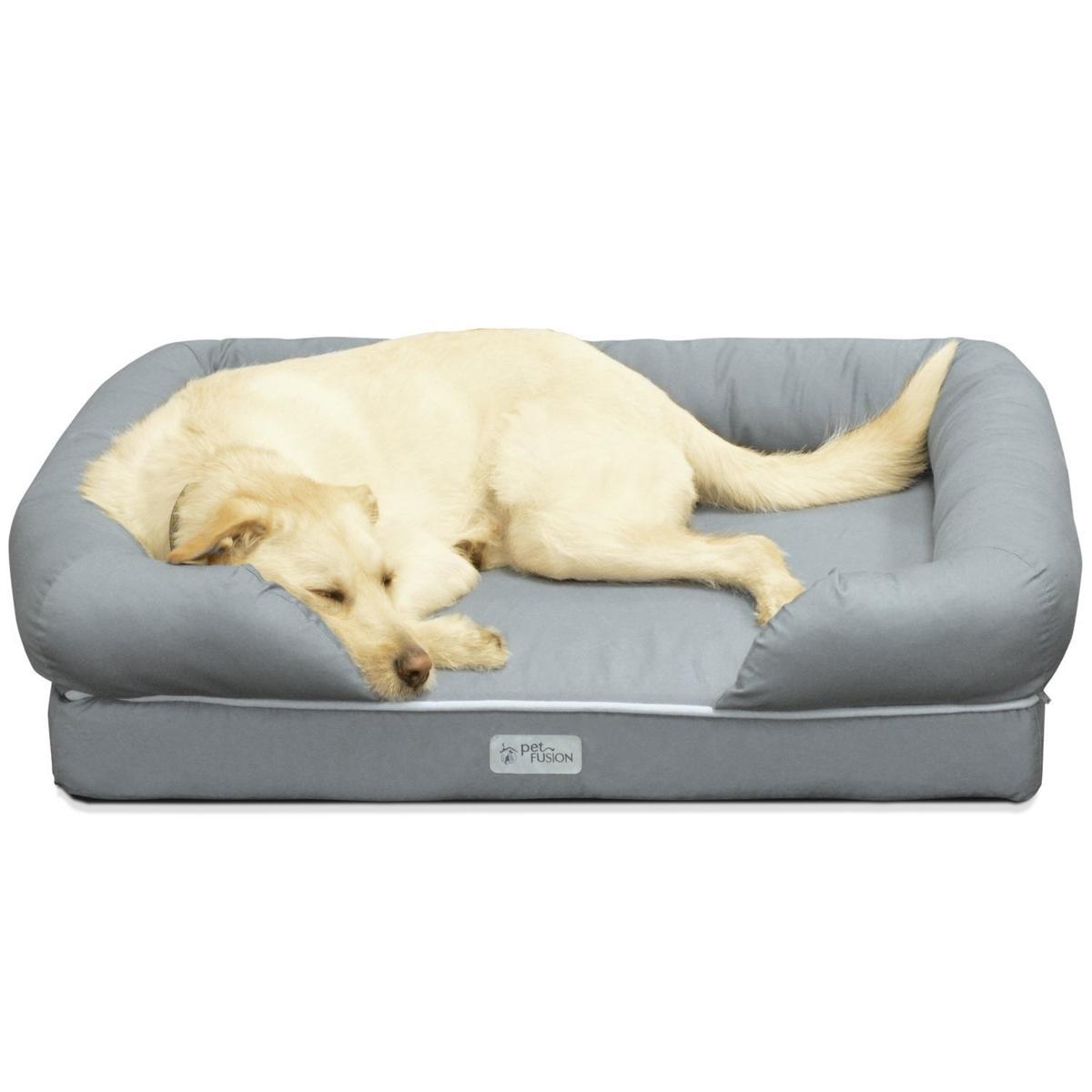 PetFusion ペット ベッド カドラー ソファ Lサイズ グレー フォーム製 洗える