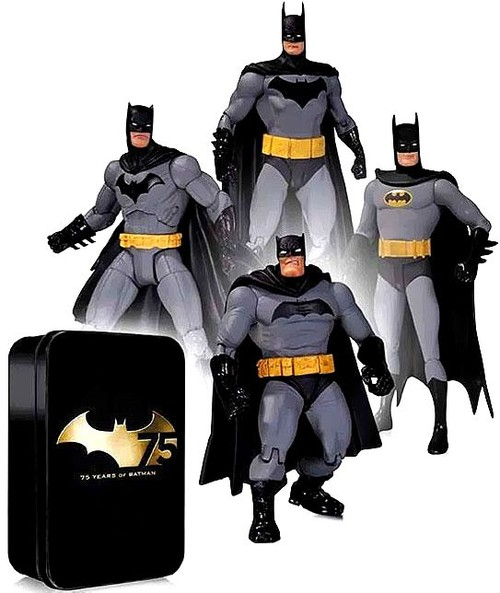 バットマン フィギュア アクション フィギュア 75周年 4体 セット 海外 おもちゃ アメコミ DCコミックス ヒーロー 人形