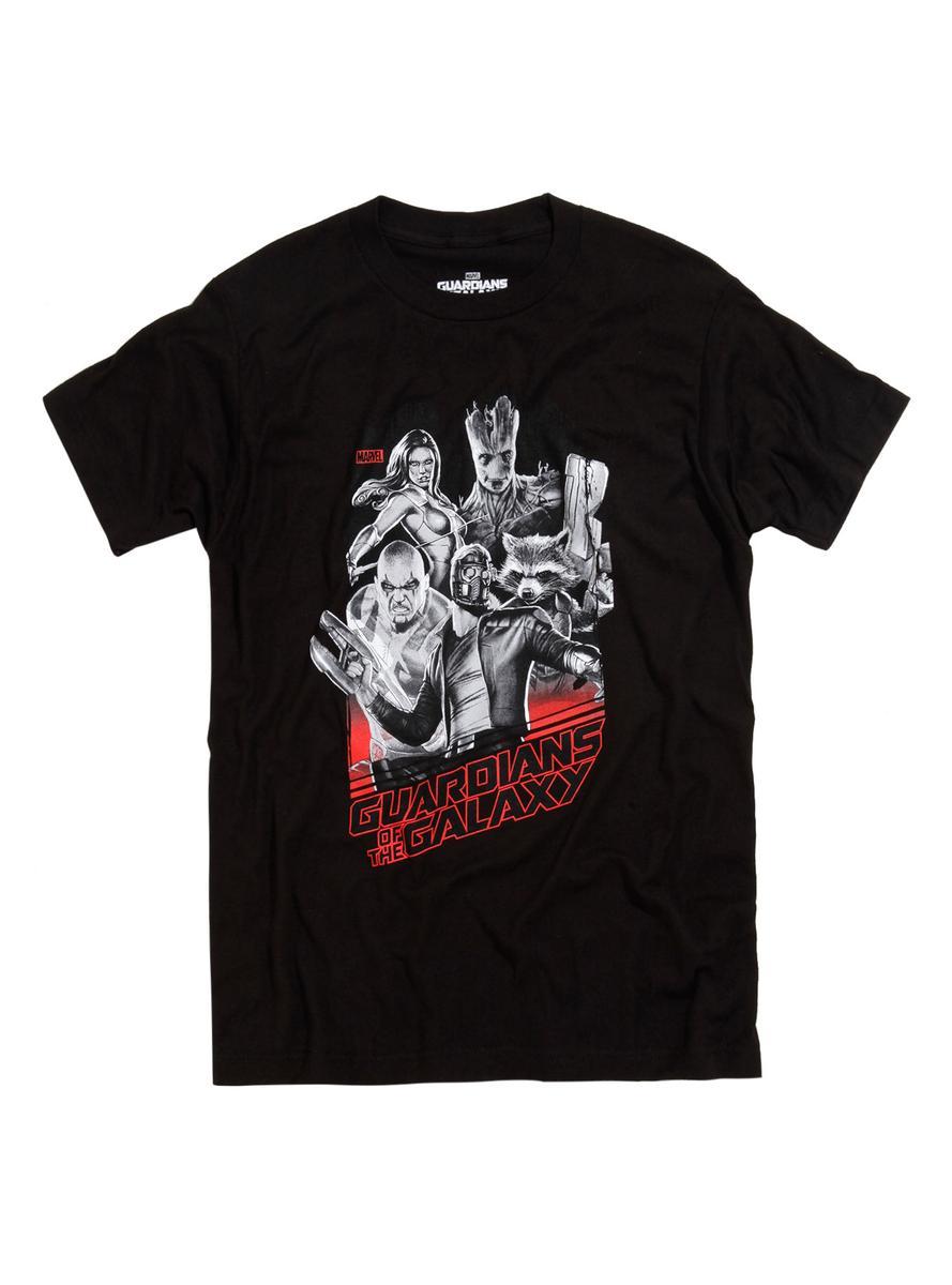 ガーディアンズオブギャラクシー Tシャツ 黒 メンズ ギャラクシーチーム