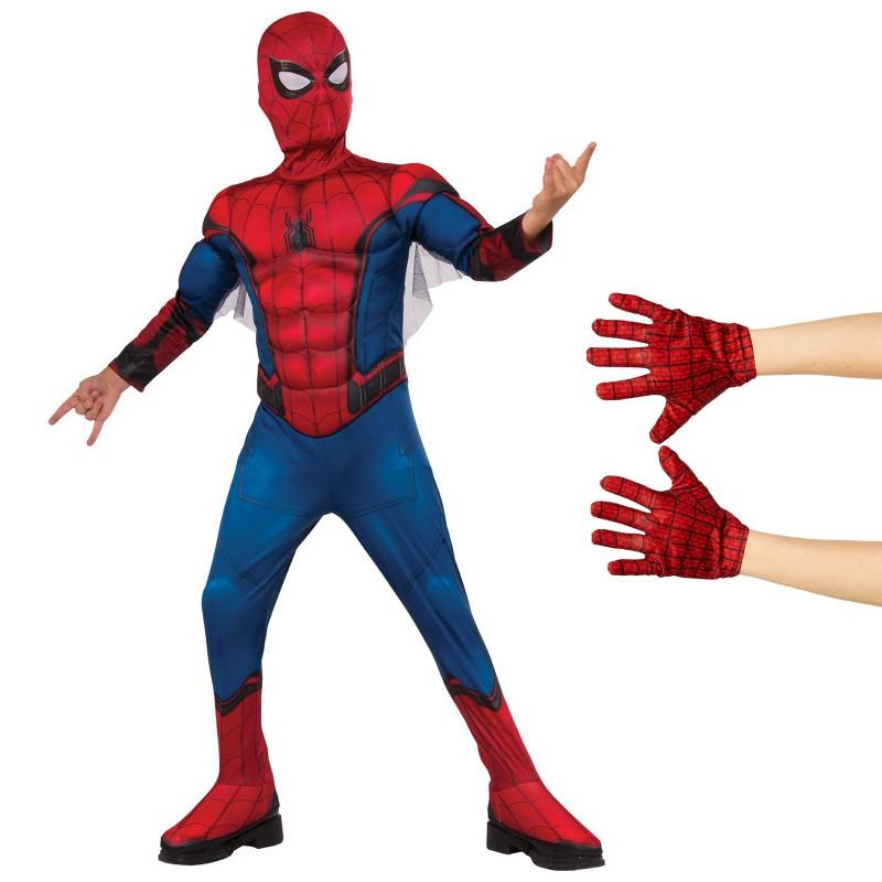 ハロウィン スパイダーマン ホームカミング グッズ コスチューム 子供 手袋付 コスプレ 仮装 アメコミ ヒーロー 衣装