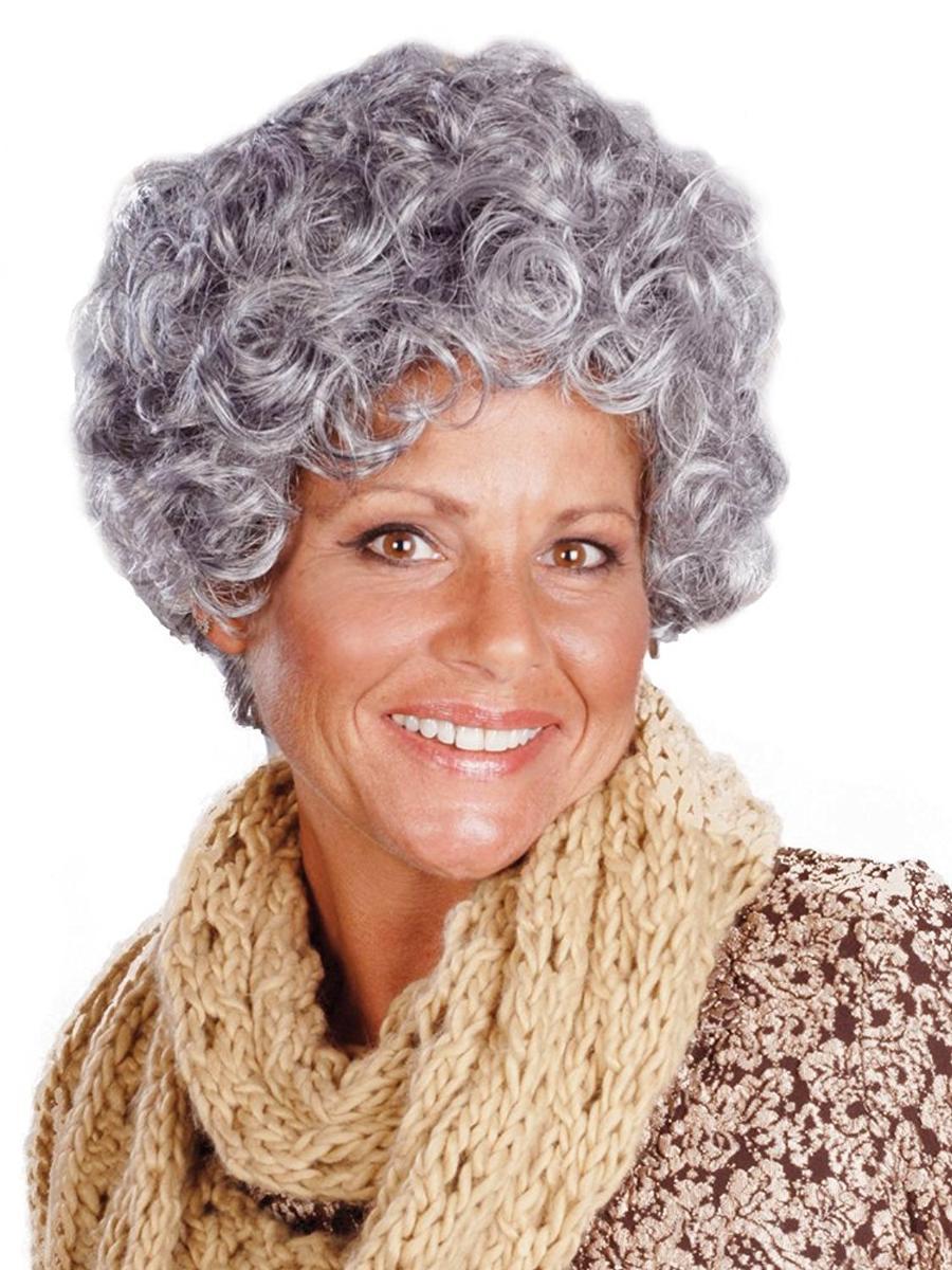 白髪 ウィッグ かつら おばあさん 老婆 コスプレ 仮装 Enigma Wigs