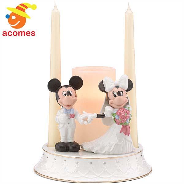 お祝い ギフト レノックス ミッキー & ミニー キャンドル ホルダー スタンド ディズニー 飾り ろうそく立て