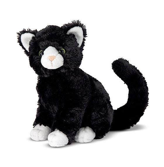通常便なら送料無料 Melissa Doug正規品 Doug メリッサダグ ぬいぐるみ 猫 Midnight Cat 動物 ネコ 送料無料でお届けします 通常便なら送料無料 人形 Black