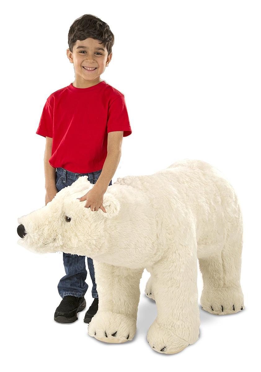 Melissa & Doug メリッサ&ダグ 大きい ぬいぐるみ くま シロクマ ホッキョクグマ ポーラーベア 大きい 動物 人形