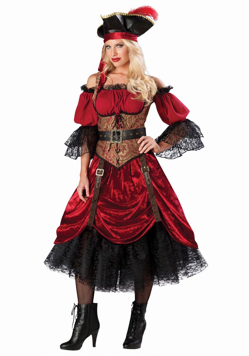 衣装 ハロウィーン 空威張りの女海賊 大人用コスチューム