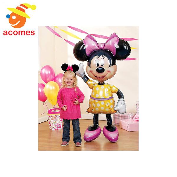 ミニーマウス 風船 バルーン 巨大 大きい ディズニー キャラクター インテリア パーティ グッズ 飾り 装飾