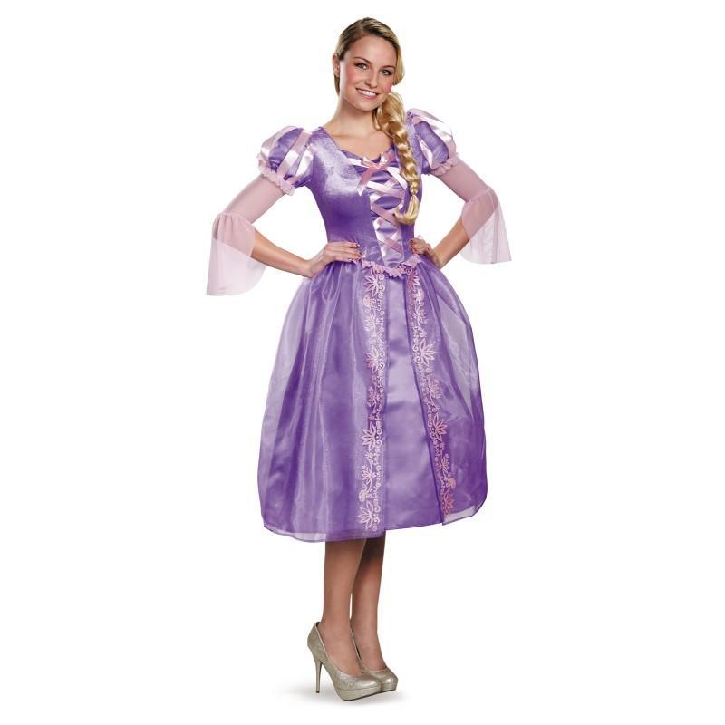 ディズニー プリンセス コスチューム 大人 ラプンツェル ドレス 衣装 コスプレ 仮装 レディース