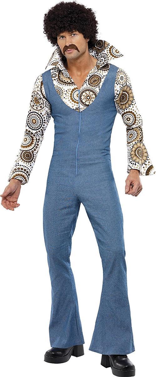 70年代 ダンサー ディスコ ヒッピー コスプレ 衣装 コスチューム 大人 男性用 メンズ 仮装 ベルボトム ブーツカット