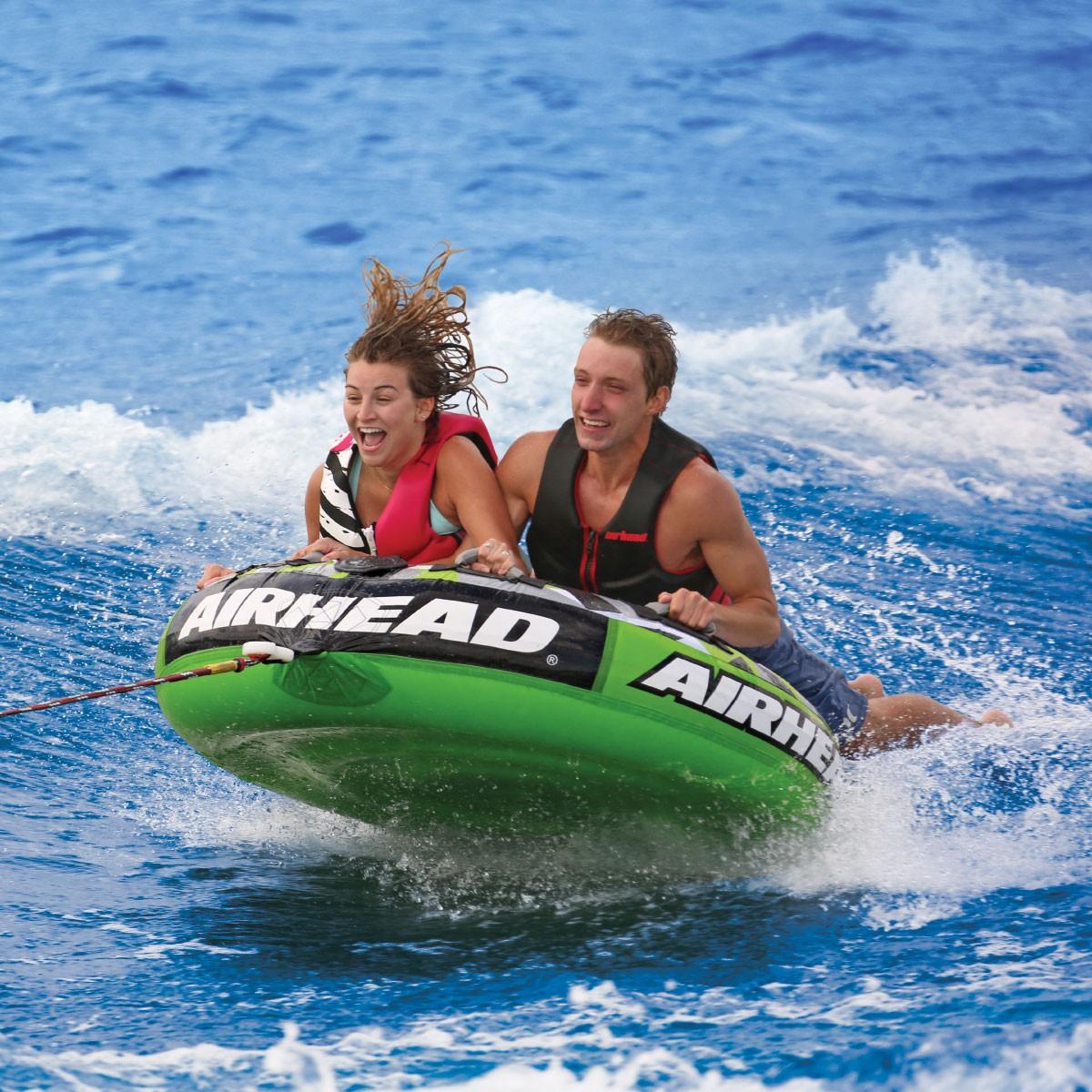 AIRHEAD トーイングチューブ Slice 2人乗り ジェットスキー マリンスポーツ 複数 グループ 海 おもちゃ ボート フロート グッズ