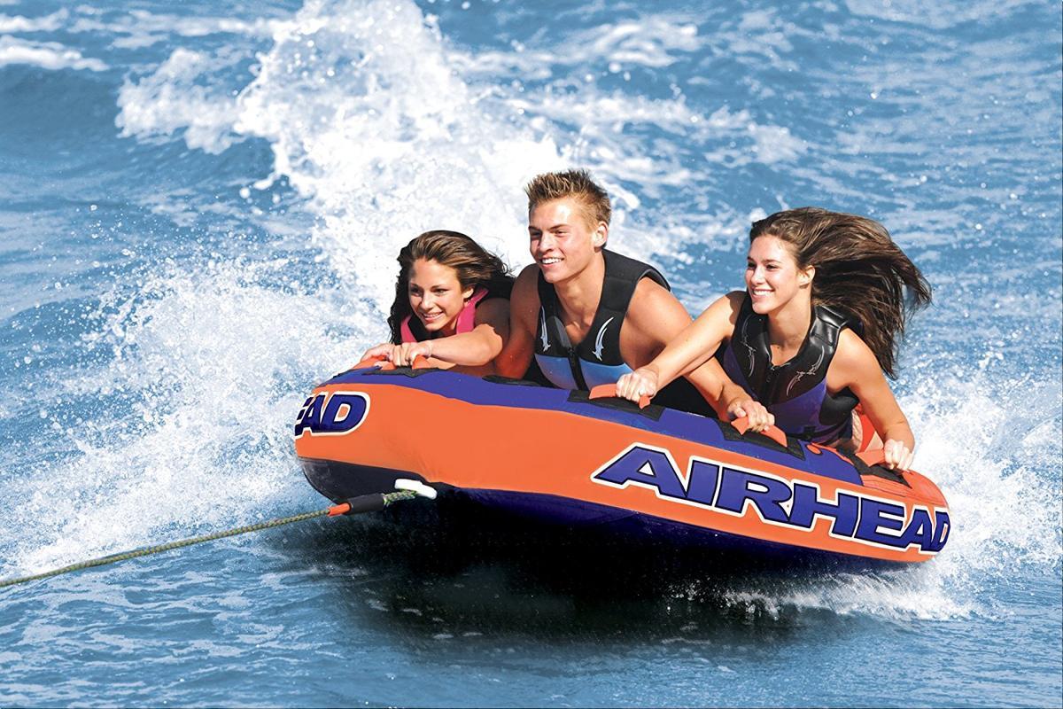 AIRHEAD トーイングチューブ Super Slice 3人乗り ジェットスキー マリンスポーツ 複数 グループ 海 おもちゃ ボート フロート グッズ