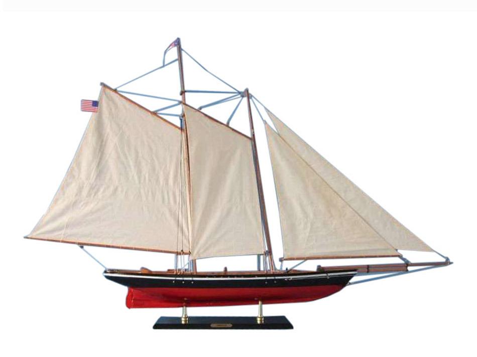 Hampton Nautical ヨット 木製 模型 50インチ 船 インテリア 置き物