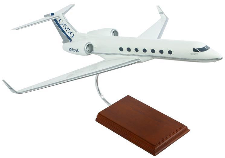 ガルフストリーム G550 スケール モデル 飛行機 模型 飾り 1/48