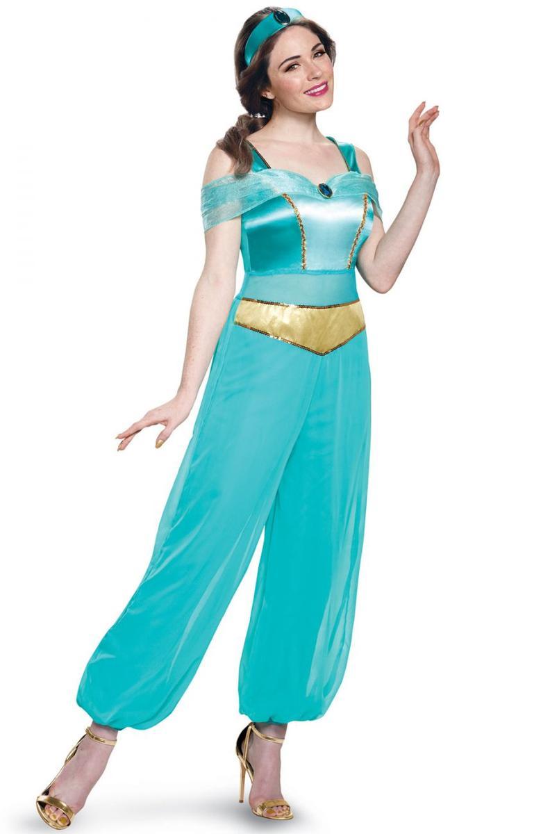 ジャスミン 衣装 大人 ディズニー プリンセス コスチューム レディース アラジン コスプレ 仮装