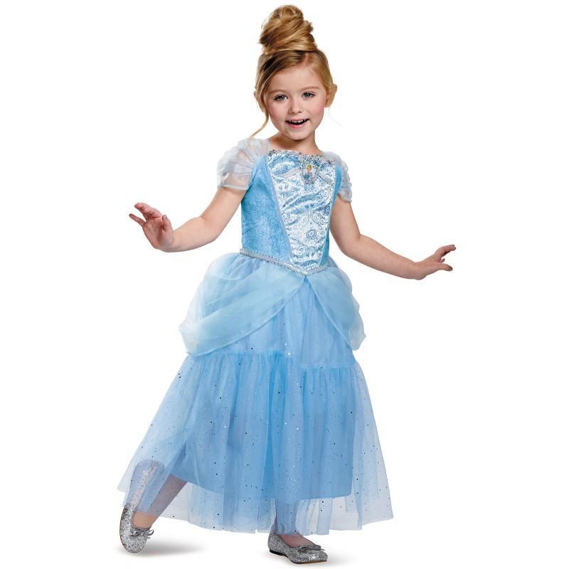 ディズニー コスプレ 子供 コスチューム 人気 シンデレラ ドレス 衣装 仮装 プリンセス キャラクター グッズ デラックス