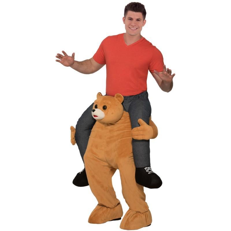セール 登場から人気沸騰 通常便なら送料無料 肩車をされているようなおもしろコスプレ おもしろコスプレ クマ 肩車 売れ筋 着ぐるみ グッズ コスチューム 動物 仮装