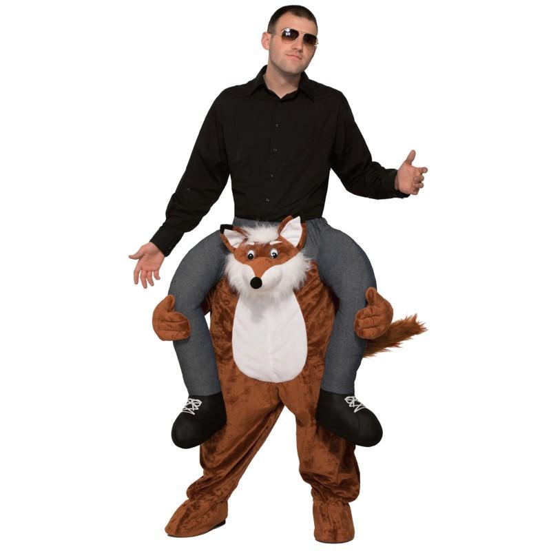 おもしろコスプレ キツネ 肩車 着ぐるみ コスチューム 仮装 動物 グッズ