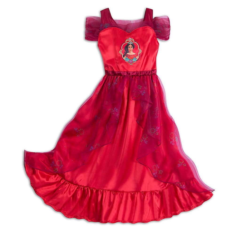 アバローのプリンセス エレナ 子供服 パジャマ 寝巻き ドレス ナイトガウン 赤