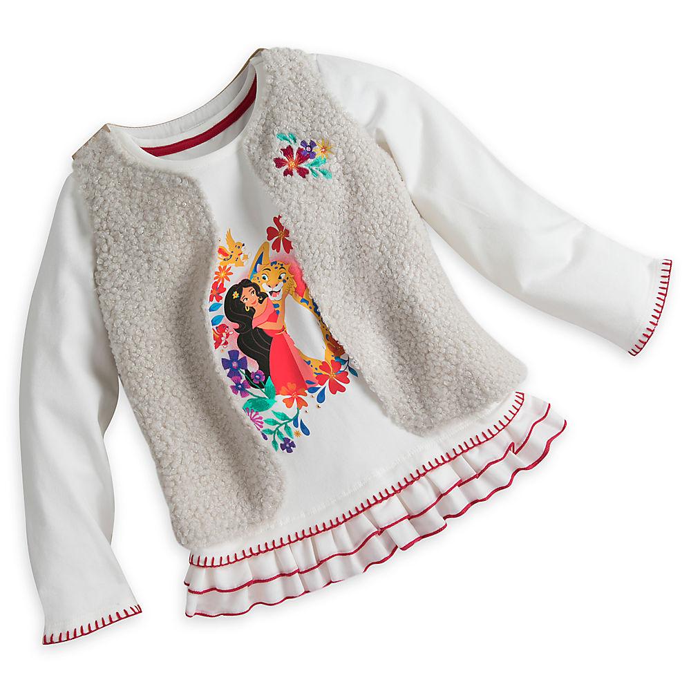 アバローのプリンセス エレナ 子供服 長袖 シャツ ベスト セット