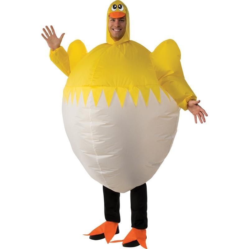 おもしろコスプレ 膨らむ 着ぐるみ ひよこ チキン 大人 動物 コスチューム 仮装