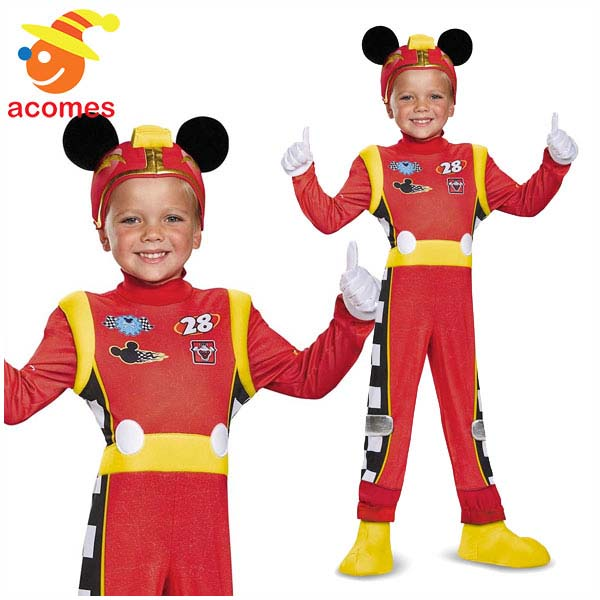 ミッキー マウス ロードスター 子供 衣装 デラックス ハロウィン コスチューム イベント パーティー