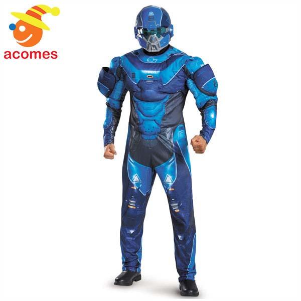 Halo ヘイロー ブルー スパルタン コスプレ 大人 コスチューム 衣装 ハロウィン イベント パーティー Disguise