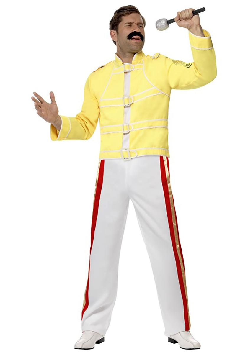 フレディマーキュリー ボヘミアンラプソディー クイーン 衣装 コスチューム 黄色 ジャケット 海外 ロックバンド ミュージシャン コスプレ 仮装 大人 メンズ