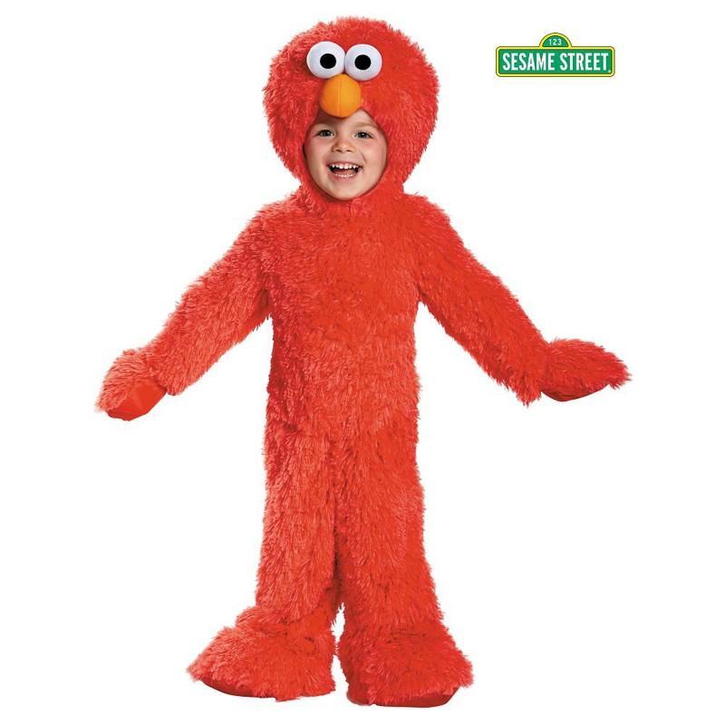 セサミストリート エルモ コスチューム 幼児 子供 コスプレ 仮装 デラックス