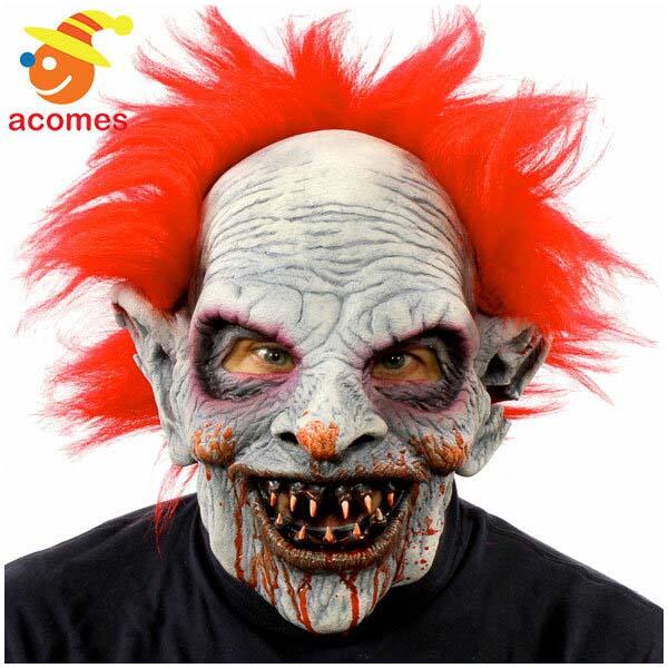 ゾンビ ピエロ マスク 怖い ヘアー付き 大人用 クラウン マスク ハロウィン イベント パーティー