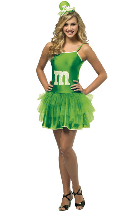 M&M'S エムアンドエムズ コスチューム チュチュドレス 緑 レディース コスプレ 仮装 食べ物 チョコレート