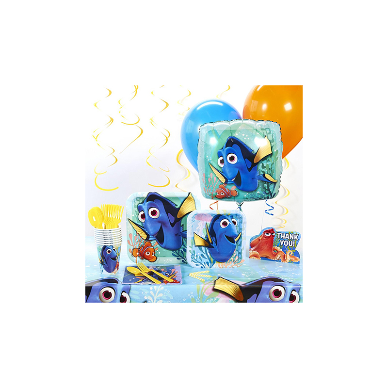 ファインディング ドリー デラックス パーティー セット 16人 子供 誕生日 イベント 使い捨て 食器 非常用
