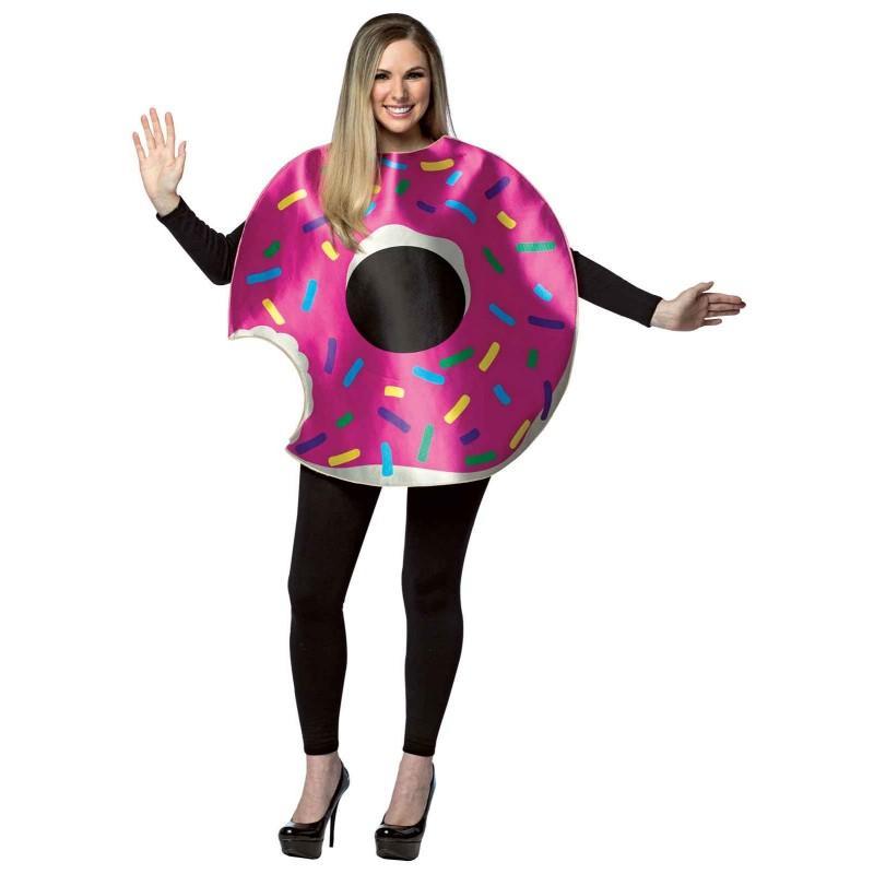 おもしろコスプレ ドーナツ コスチューム 着ぐるみ 大人 食べ物 コスプレ 仮装 デザート スイーツ レディース