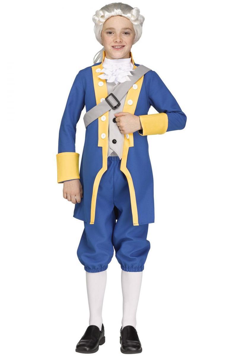 ジョージ・ワシントン コスチューム 子供 Fun World キッズ コスプレ 仮装 アメリカ 大統領