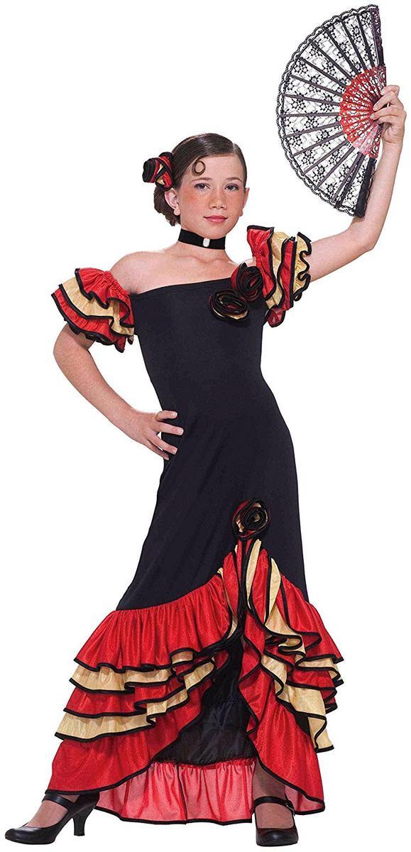 フラメンコ コスチューム スペイン コスプレ 仮装 子供 衣装 ドレス