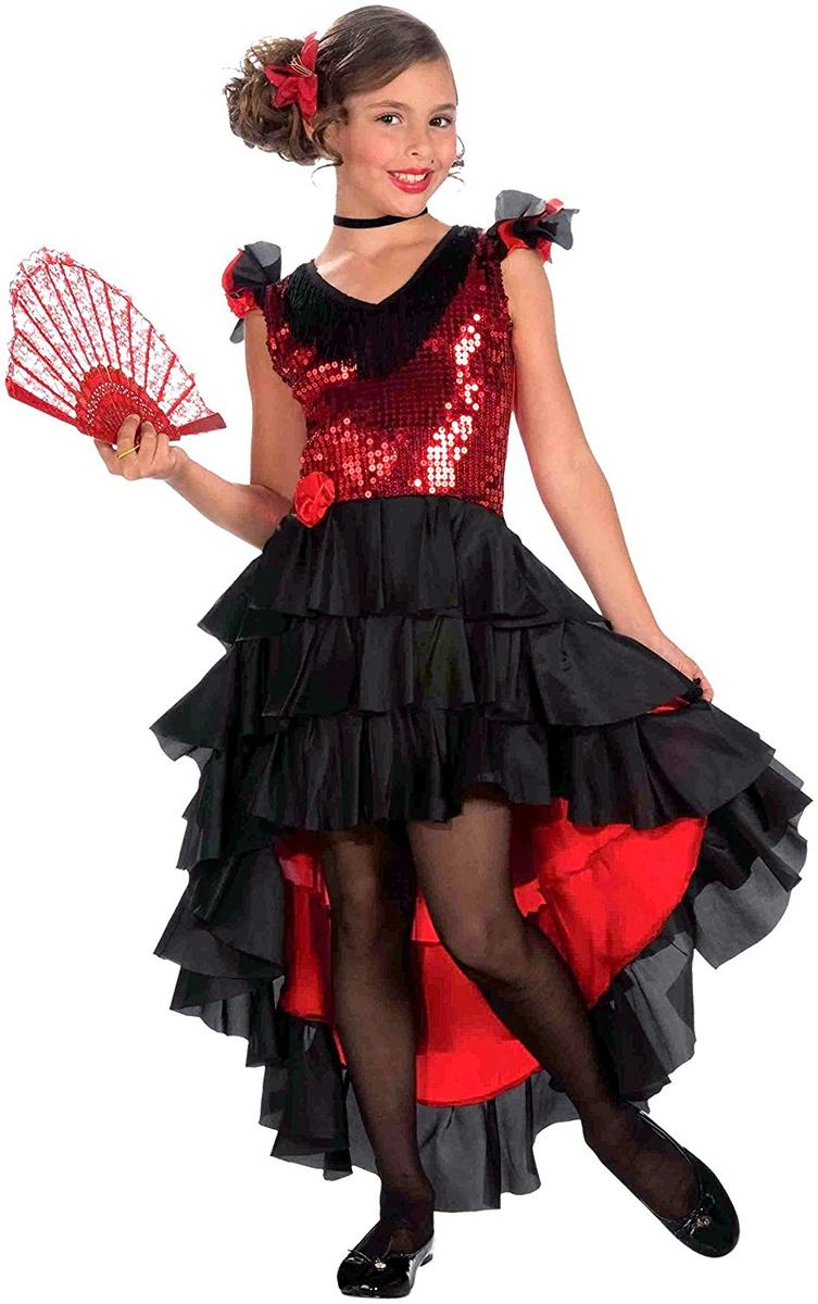スペイン ダンス コスチューム コスプレ 仮装 子供 フラメンコ 衣装 ドレス
